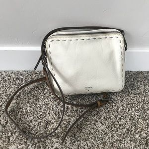 White Fossil Hand Bag Satchel / Purse